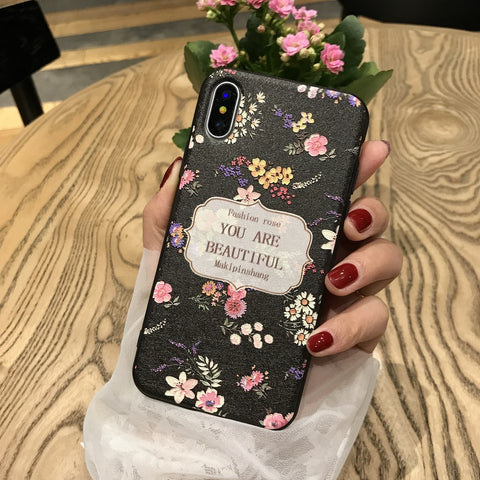 You are Beautiful Black iPhone Case