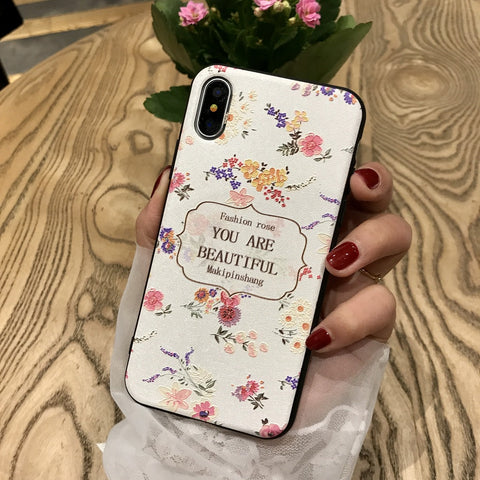 You are Beautiful iPhone White Case