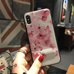 Pink Floral iPhone Case