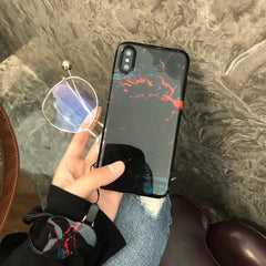 Fiery Black iPhone Case