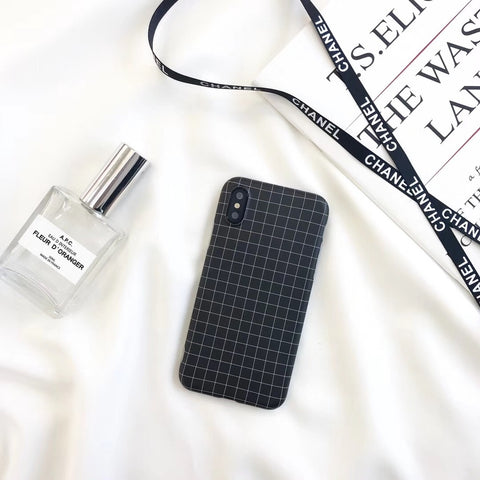 Latice Black iPhone Case