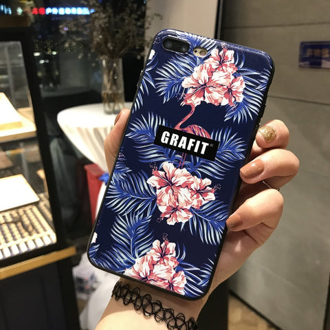 Floral Grafit Designer TPU Phone Case iPhone 8