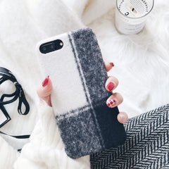 Provrase Premium - Plaid Fabric Phone Case for iPhone 6 Plus