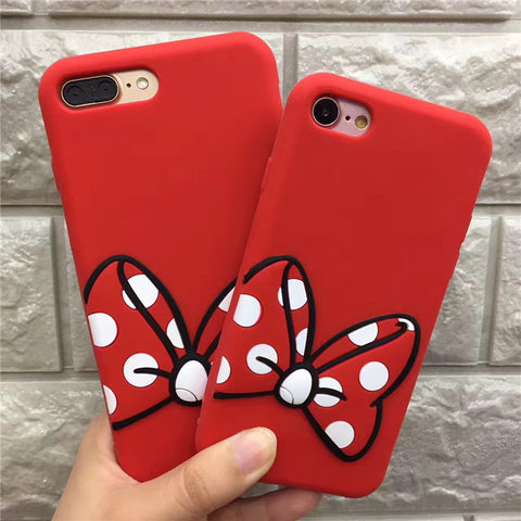 Mickey & Mini Ribbon iPhone Case