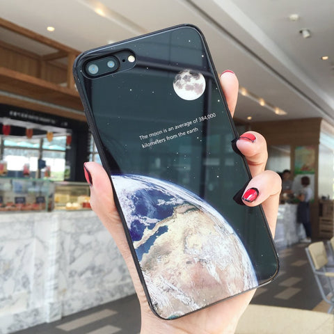 Gaia & Lunar - iPhone Case (Black) iPhone 8 Plus