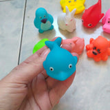 13 Pcs Mixed Animals Swimming Water Toys Colorful Soft Floating Rubber Duck For Baby Bath Toys