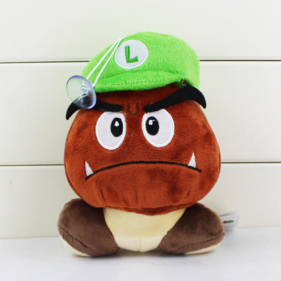 Super Mario Bros Goomba Luigi Stuffed Dolls 12CM