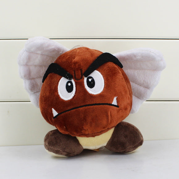Super Mario Bros Goomba Angel Stuffed Dolls 12CM