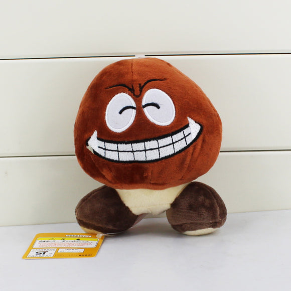 Super Mario Bros Goomba Happy Stuffed Dolls 12CM