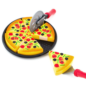 Children Kids Kitchen Pizza Party Fast Food Slices Cutting Pretend Play Food Toy