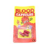 6Pcs/lot Vomiting Blood Capsules Fake Blood Pill Fancy Prank