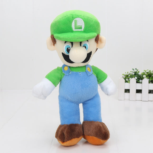 Super Mario Bros Plush Dolls 25cm 25cm Luigi