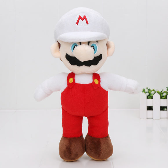 Super Mario Bros Plush Dolls 25cm white Mario
