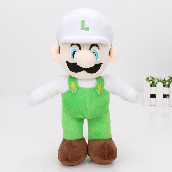 Super Mario Bros Plush Dolls 25cm white Luigi