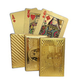 Golden Playing Cards gold foil poker set Waterproof Cards