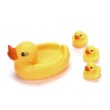 HIINST Mummy & Baby Rubber Race Squeaky Ducks Family Bath Toy Kid Game Toys