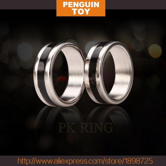 Close-up magic Magnet Ring PK Ring with black pattern 21mm/20mm/19mm/18mm
