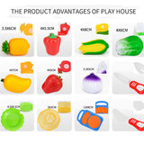 WholeSale Price 12PC Cutting Fruit Vegetable Pretend Play Children Kid Educational Toy Pretend Play toys for children 2016.11