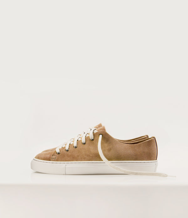 Suede Lowtops - Camel