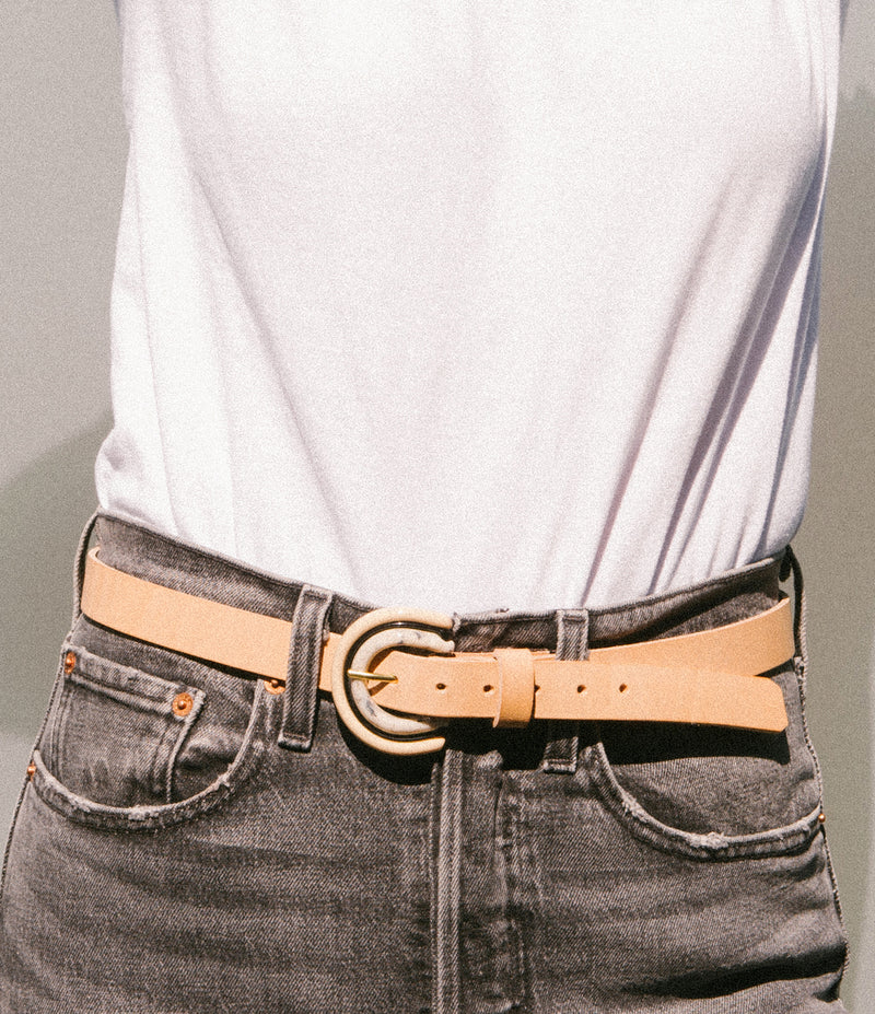 Leather Tricolor Belt