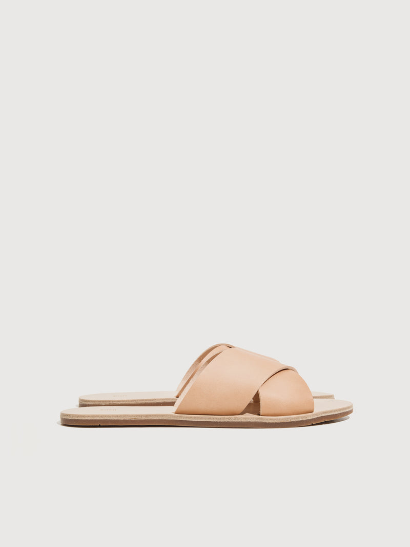 Cross Sandals Natural - Size 5