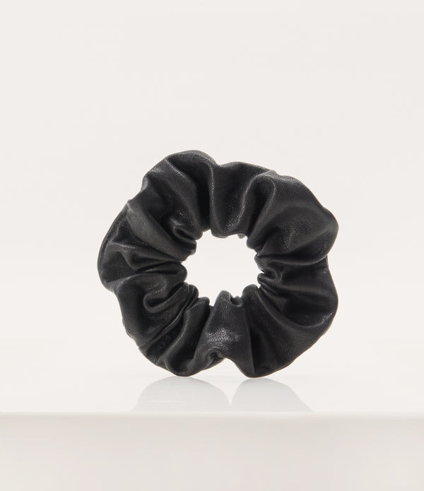 Leather Scrunchie - Black