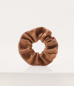 Leather Scrunchie - Whiskey