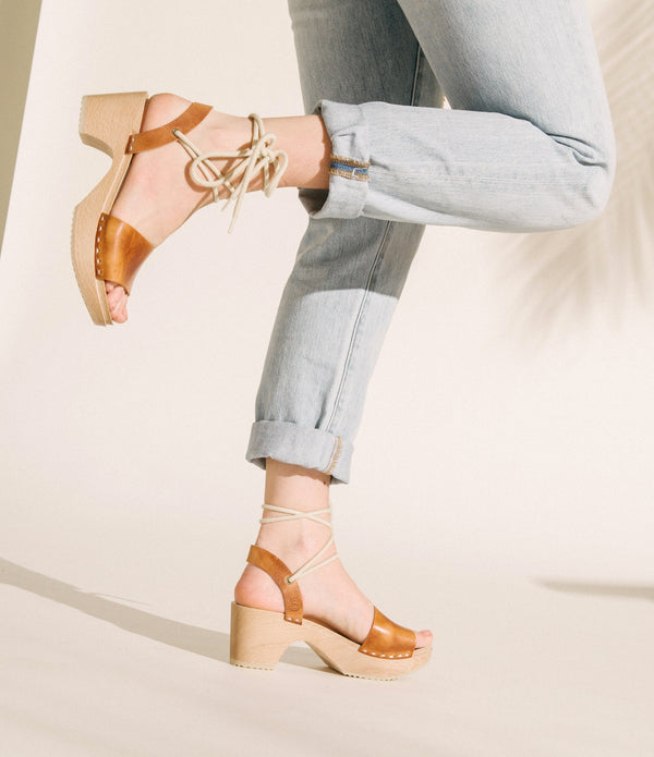 Slingback Clogs - Whiskey