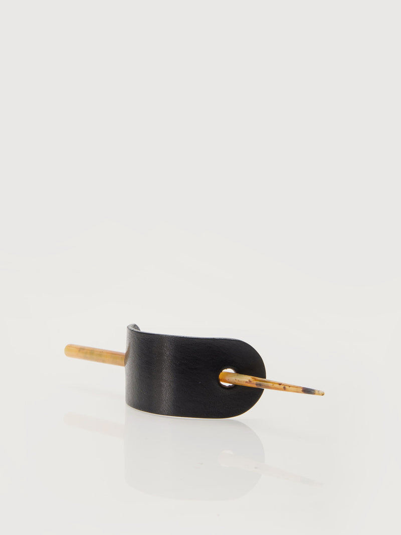 Leather Hair Pin - Black