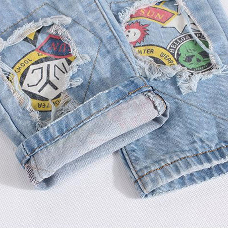 Biker Light Blue Jeans