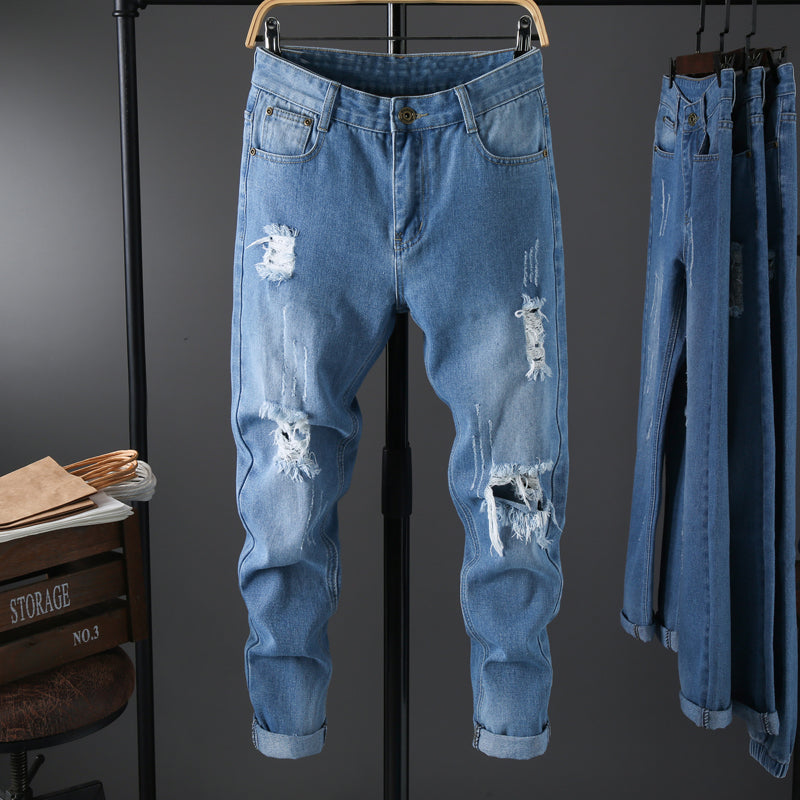 Casual Light Distressed Jeans