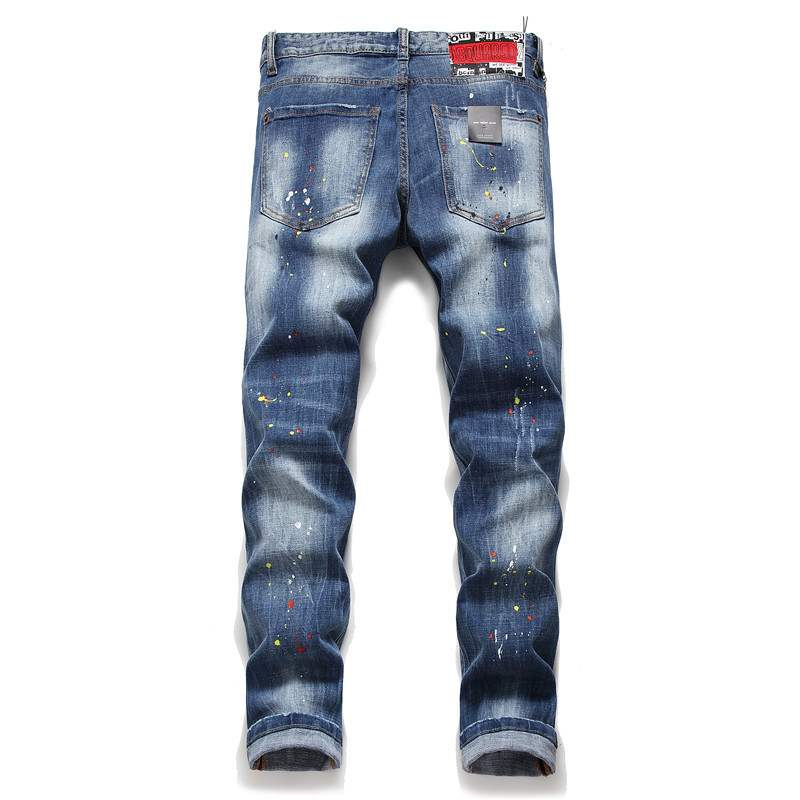 Delsin Distressed Slim-Fit Jeans