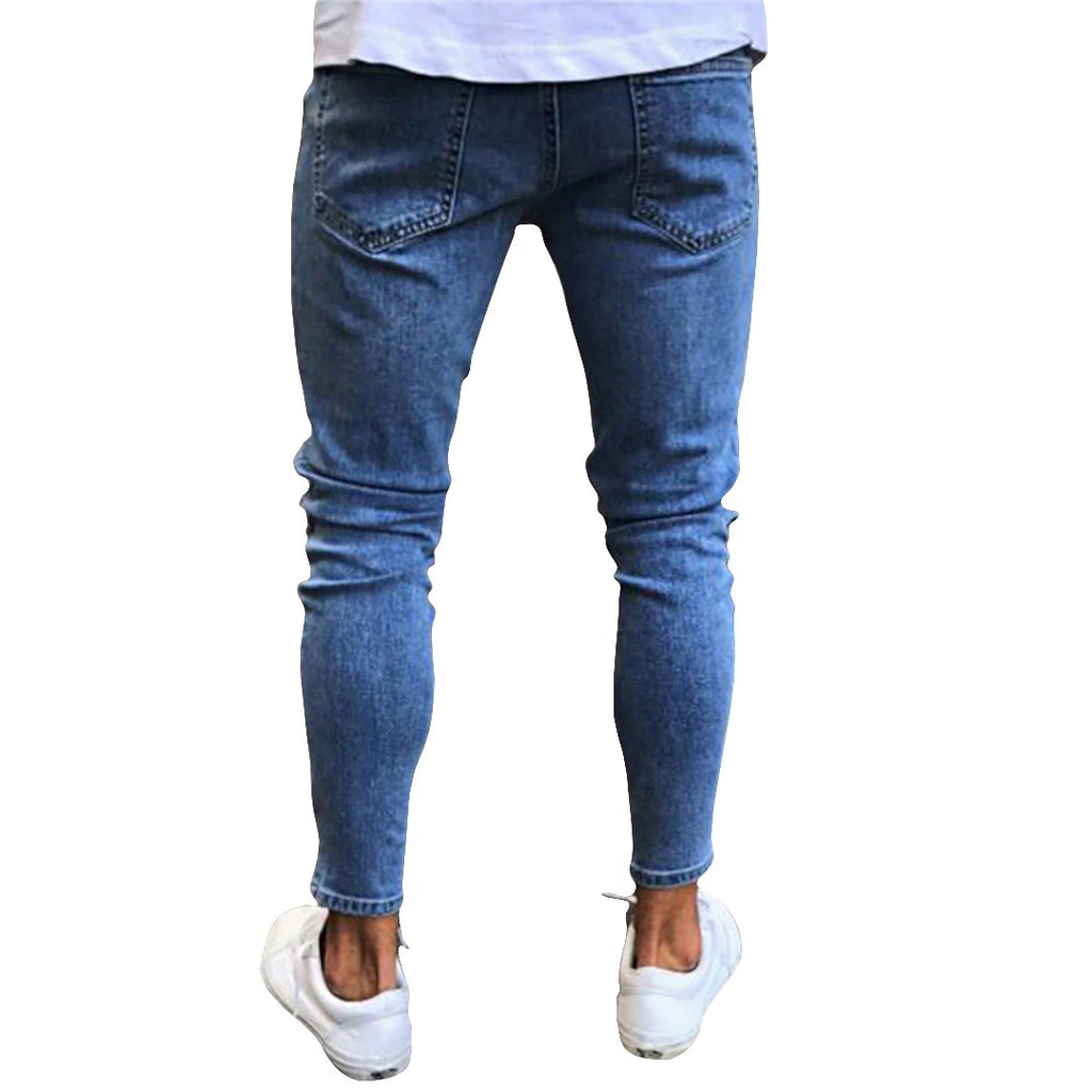 Slim Fit Patched Jeans