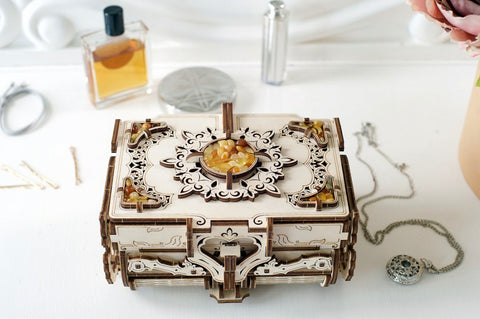 Amber Antique Jewelry Box