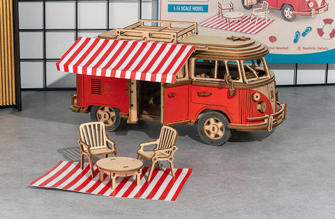 Happy Camper Van Robotime Scale 3D Model Vehicle