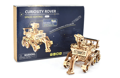 Curiosity Rover model kit with model facing right