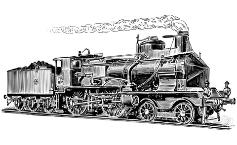 Illustration of steam locomotive