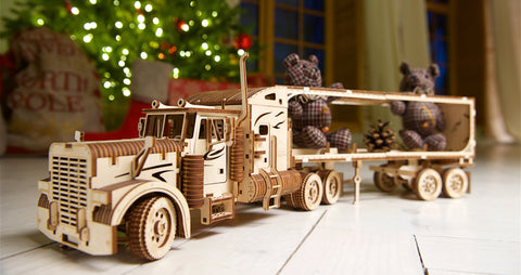 Heavy Truck and Trailer Model Building Kit