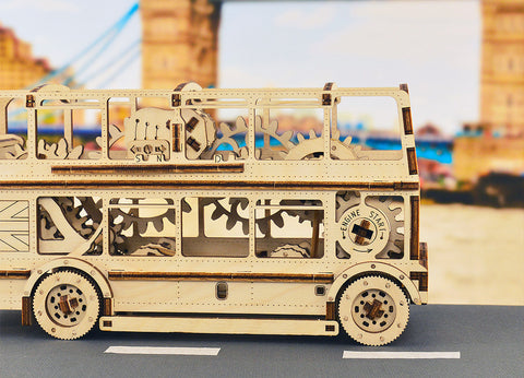 Mechanical London Bus Model building kit