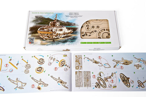 Mechanical Tug Boat Model Building Kit