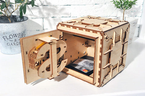 Mechanical Vault Building Kit Fully Assembled and Opened.