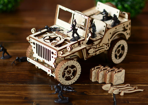 Military Wrangler Jeep Model Building Kit