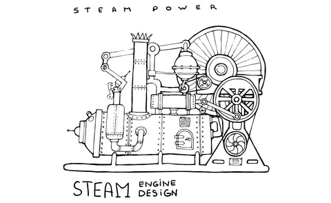 Steam power engine design