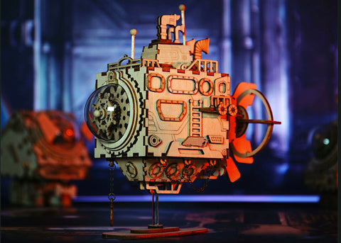Submarine Mechanical Music Box Model Kit