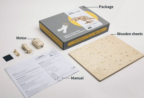 T Rex Building Kit Components