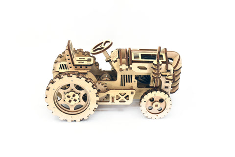 Tractor model fully assembled facing right