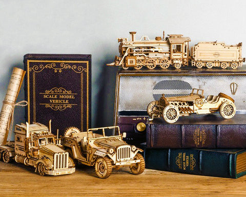 Vehicular mechanical model kits