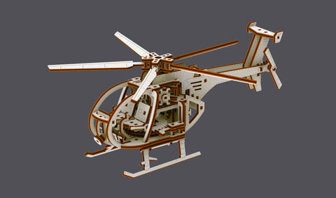 Whirlybird - Mechanical Helicopter Model Building Kit