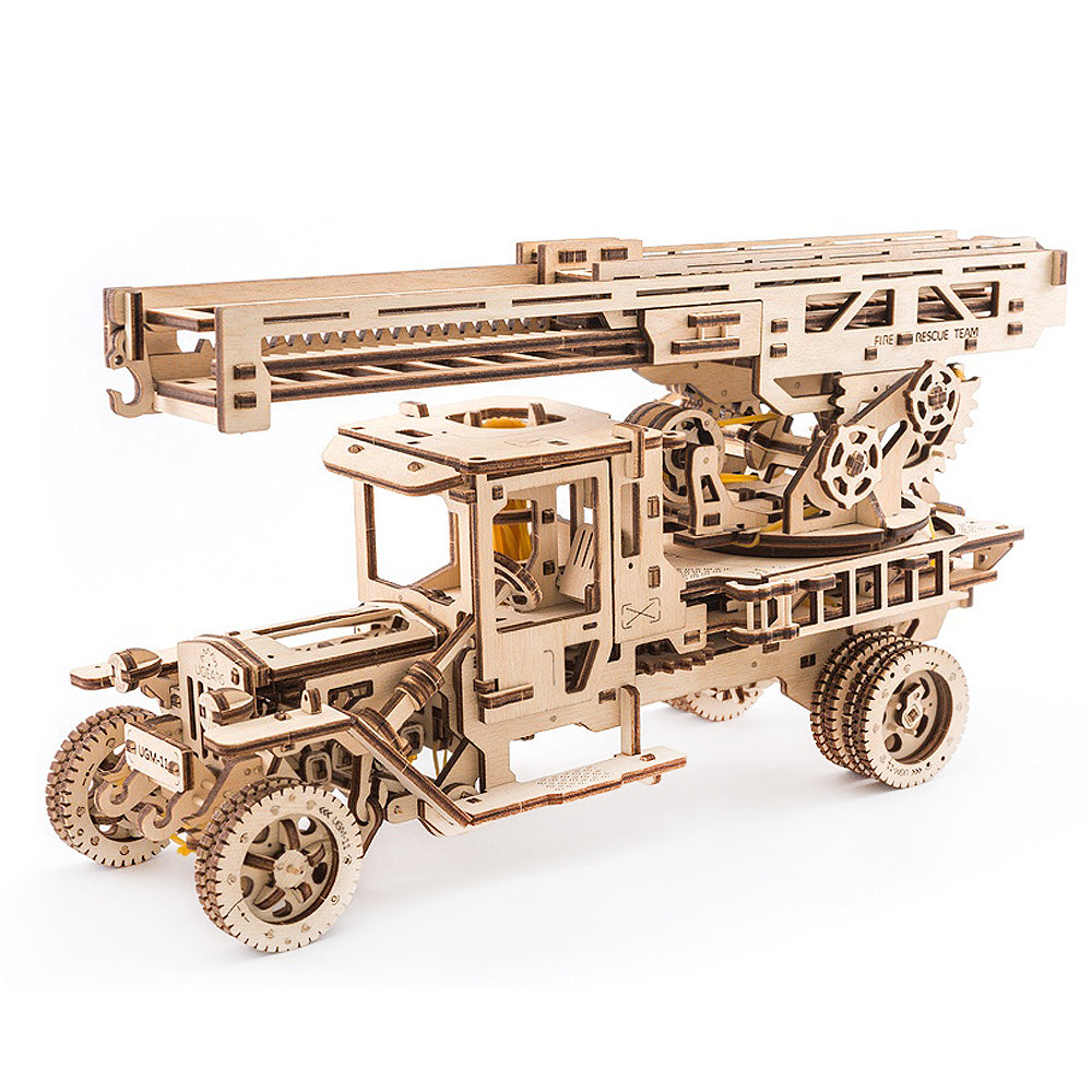 Mechanical Fire Ladder Truck Building Kit