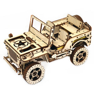 Military Jeep Wrangler Model Building Kit